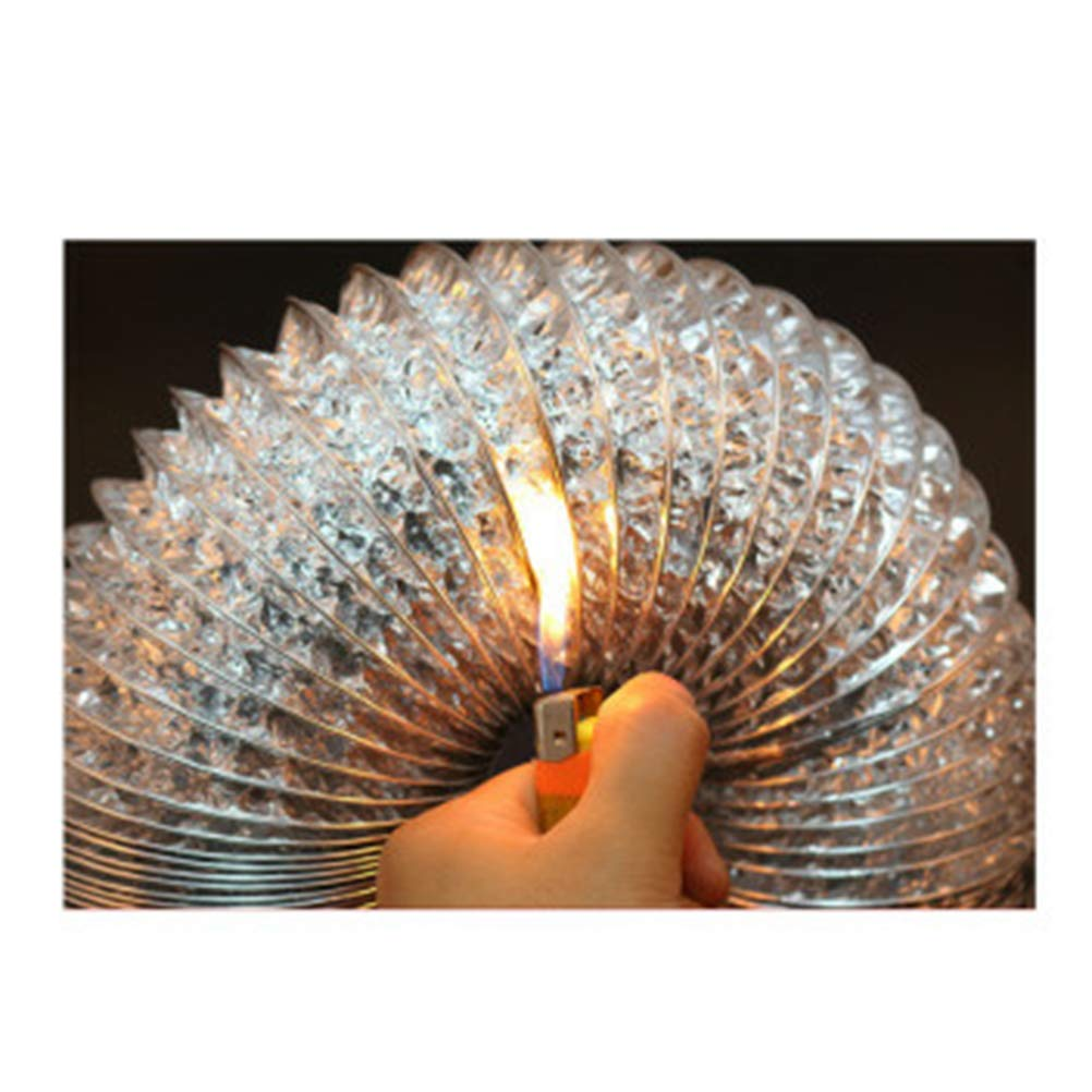 UKCOCO 1.5m Aluminiumfolie-Kanal-Schlauch-Flexluft-Einlass-Rohr-Bel/üftungs-Ventilator-Abluft-Entl/üftungs-Schlauch f/ür Durchmesser HVAC-Bel/üftungs-100mm