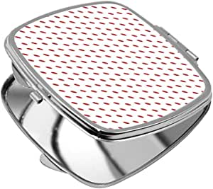 مرآة جيب، بتصميم نقاط حمراء ، شكل مربع