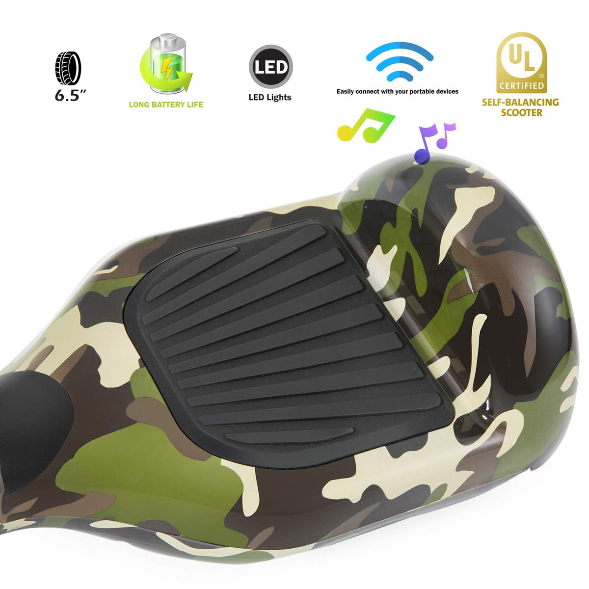 XPRIT Easter Sale Hoverboard w/Bluetooth Speaker (Camouflage) by XPRIT (Image #5)
