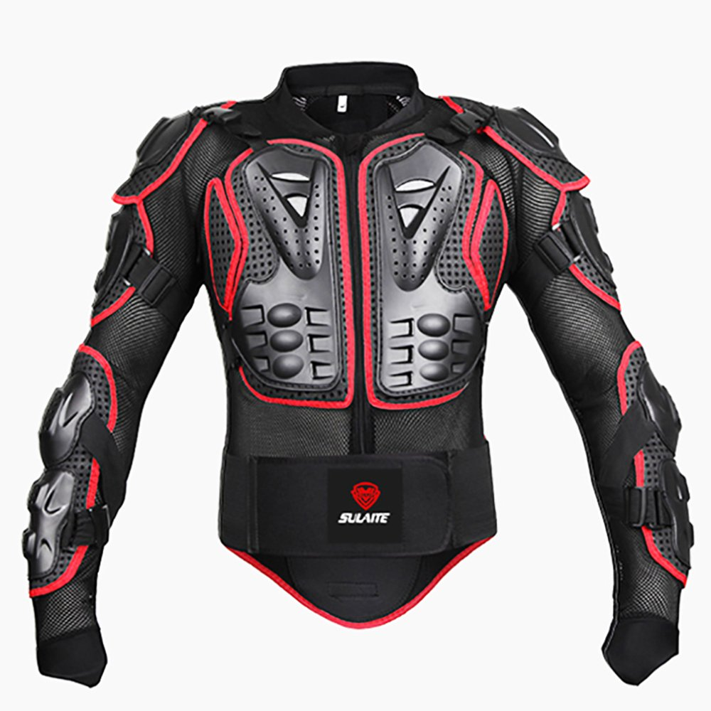 SULAITE Motorcycle Full Body Armor Jackets Spine Chest Back Protection Gear Clothing Motocross Motorbike Protection Jacket
