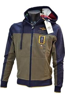 Blu Felpa Uomo Militare Felpato Sweatshirt D6224 Felpe Aeronautica SqIw7v4q