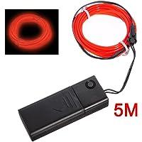 SODIAL(R) Rojo suave neon EL cable de baile