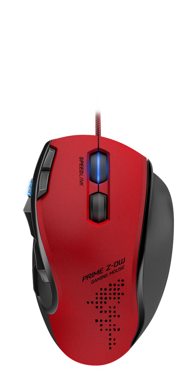 SPEEDLINK PRIME Z-DW Customizable Optical Gaming Mouse with 8 Programmable Buttons, Red