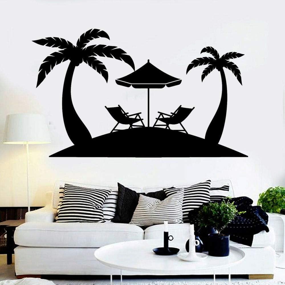 TYLPK Vinilo decorativo de pérgola de playa Negro 56x96cm: Amazon ...