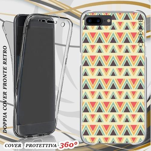 CUSTODIA COVER CASE AZTEC ROMBI PER IPHONE 7 PLUS FRONT BACK