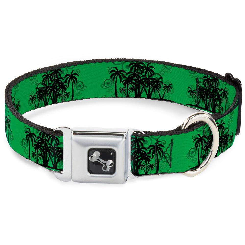 Buckle-Down 11-17  Palm Trees Dog Collar Bone, Medium