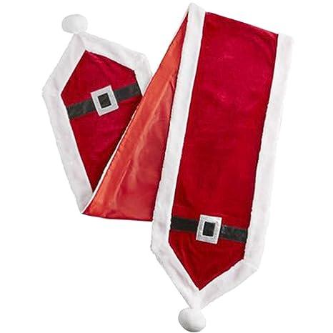 Noël Chemin De Table Salle à Manger écharpe Décor Rouge Boucle Argent