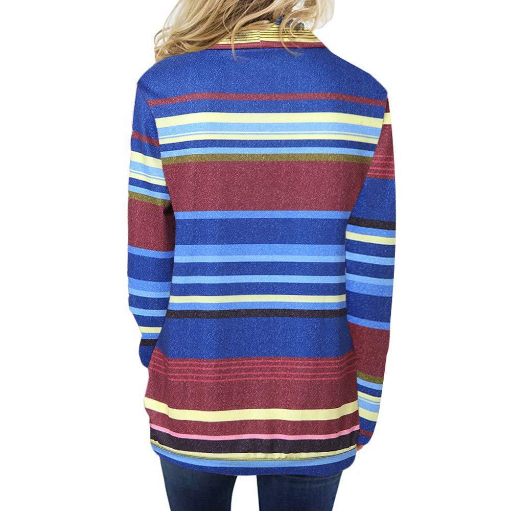 bf674c96c5 ... TianWlio Damen Hoodie Frauen Langarm Hoodie Mode Langarm Herbst Winter  Cowl Neck Striped Langarm Kordelzug Pullover ...