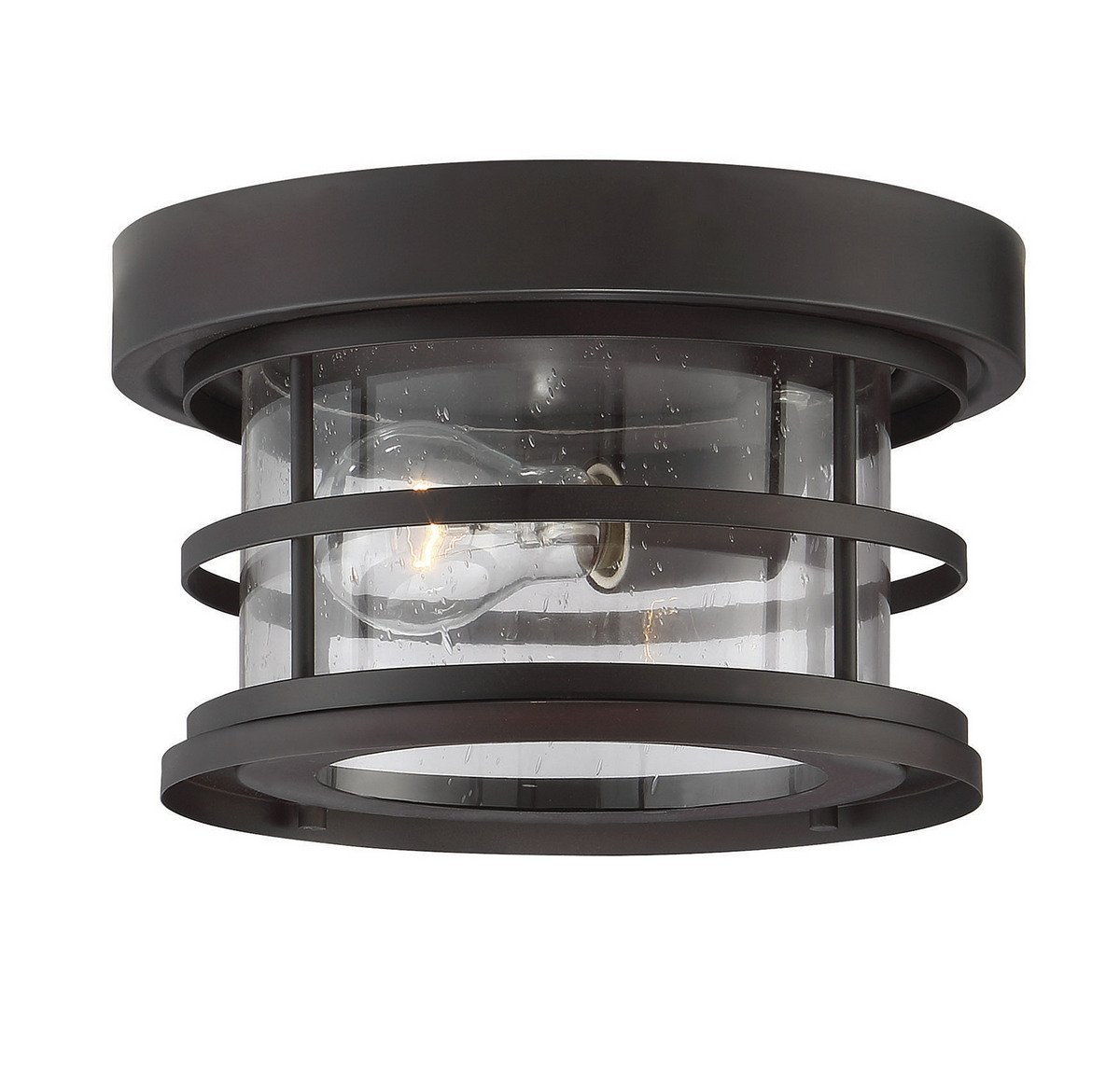 Savoy House Barrett 10'' Outdoor Ceiling Light in English Bronze 5-369-10-13 by Savoy House