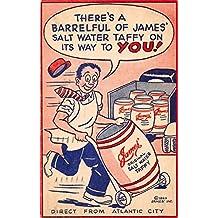 Atlantic City New Jersey Fralinger's Saltwater Taffy Comic Postcard J67163