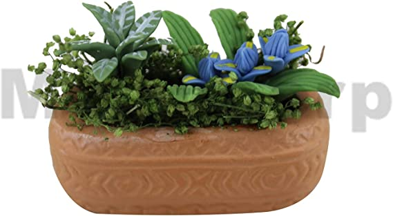1:12 Dollhouse Miniature Simulation Hydroponic Glass Plant Potted Flowers ModUT5
