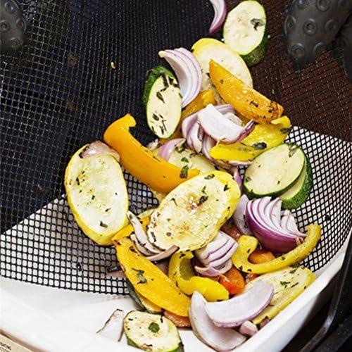 UPKOCH Barbecue Grille Fiberglass Mesh Grill Net Grilles Carrés Trous Barbecue Grillage pour Barbecue À Charbon De Bois Grille De Cuisson 30 * 40cm