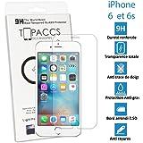 TOPACCS - Apple iPhone 6 et 6s - Véritable vitre en verre trempé ultra résistante - Protection écran - AVEC BOITE