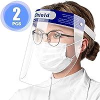 Pantalla Facial Protectora, 2 Viseras Protectoras Transparentes Ajustables