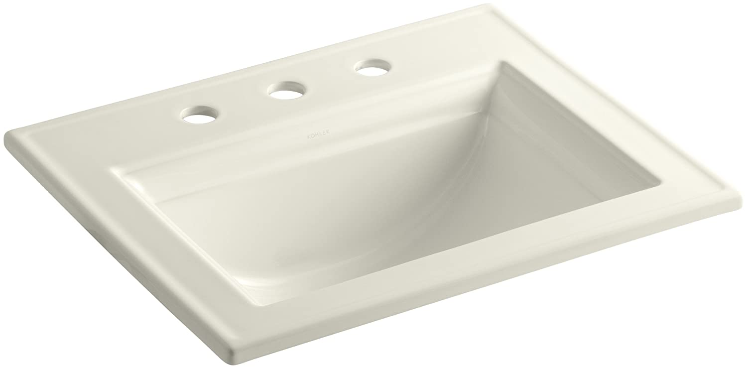 KOHLER K-2337-8-95 Memoirs Self-Rimming Bathroom Sink with Stately Design and 8 Centers Ice Grey