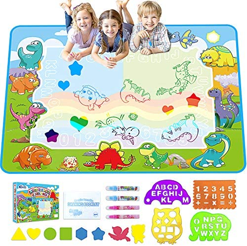 PUZ Toy Gifts for 2-4 Year Old Girls Boys Aqua Magic Doodle Water Doodle Mat Set