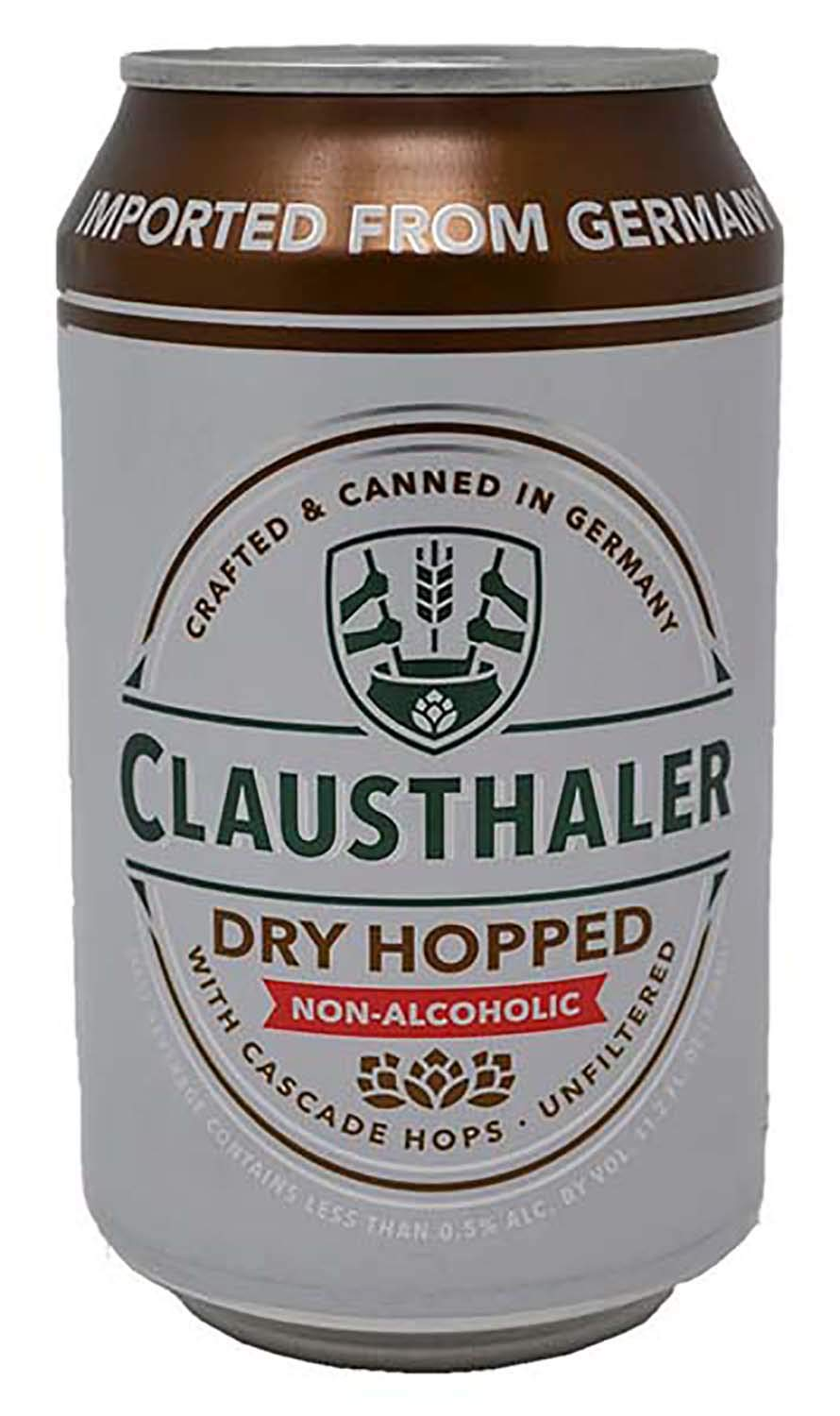 Clausthaler Dry Hopped Non-Alcoholic Beer, 11.2 fl oz (24 Cans)
