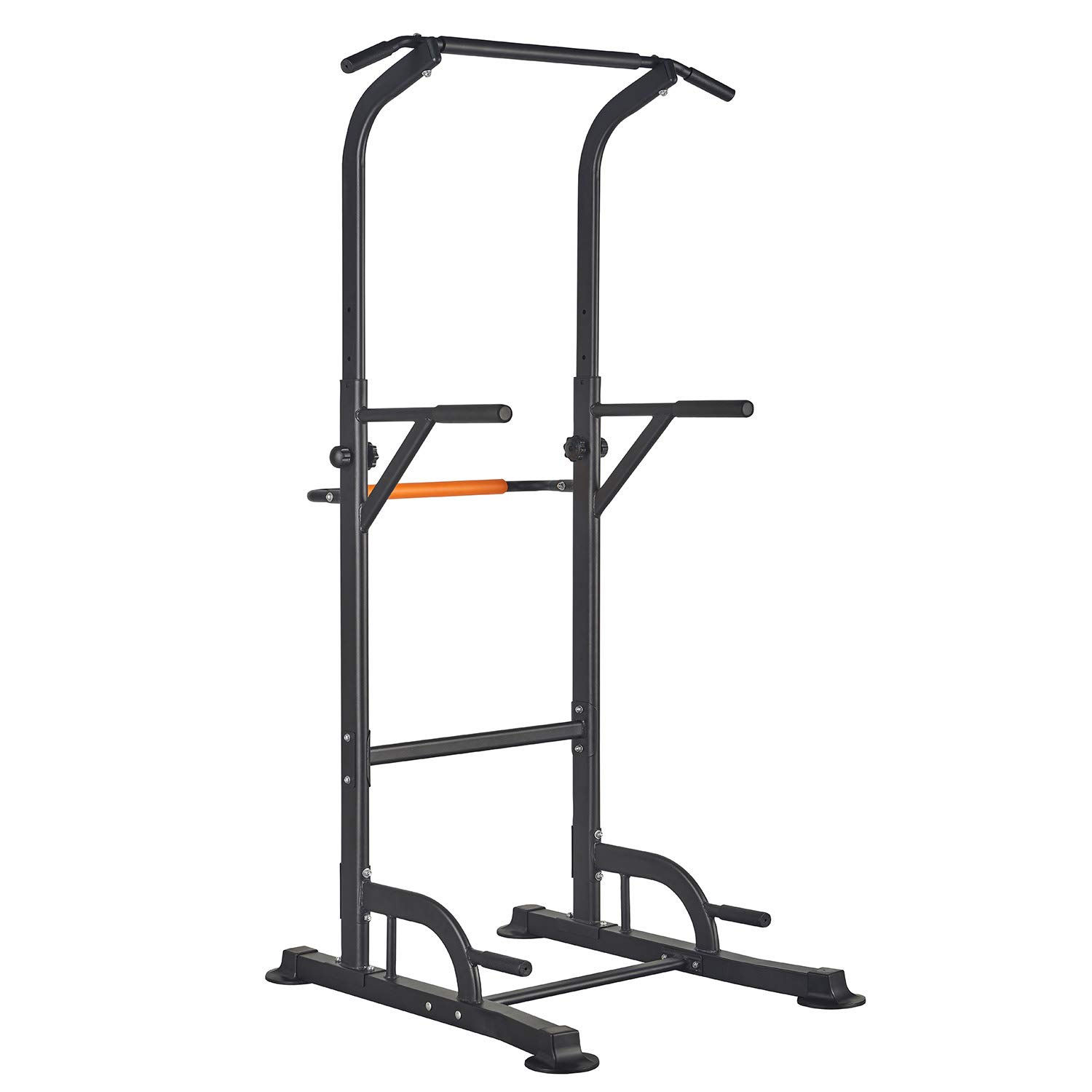 RELIFE REBUILD YOUR LIFE Pull Up Dip Station Power Tower Workout for Home Gym Adjustable Height Strength Training Equipment