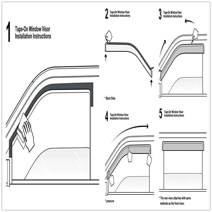 Amazon Cbx Auto 4pcs Side Window Deflectors Window Visors For