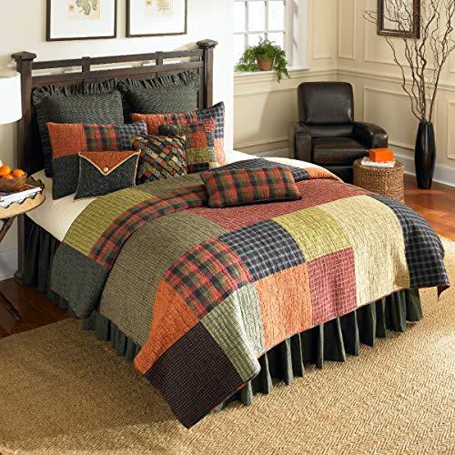 Donna Sharp Woodland Square Cotton Quilt 3pc Set, - Hopscotch Quilt Set