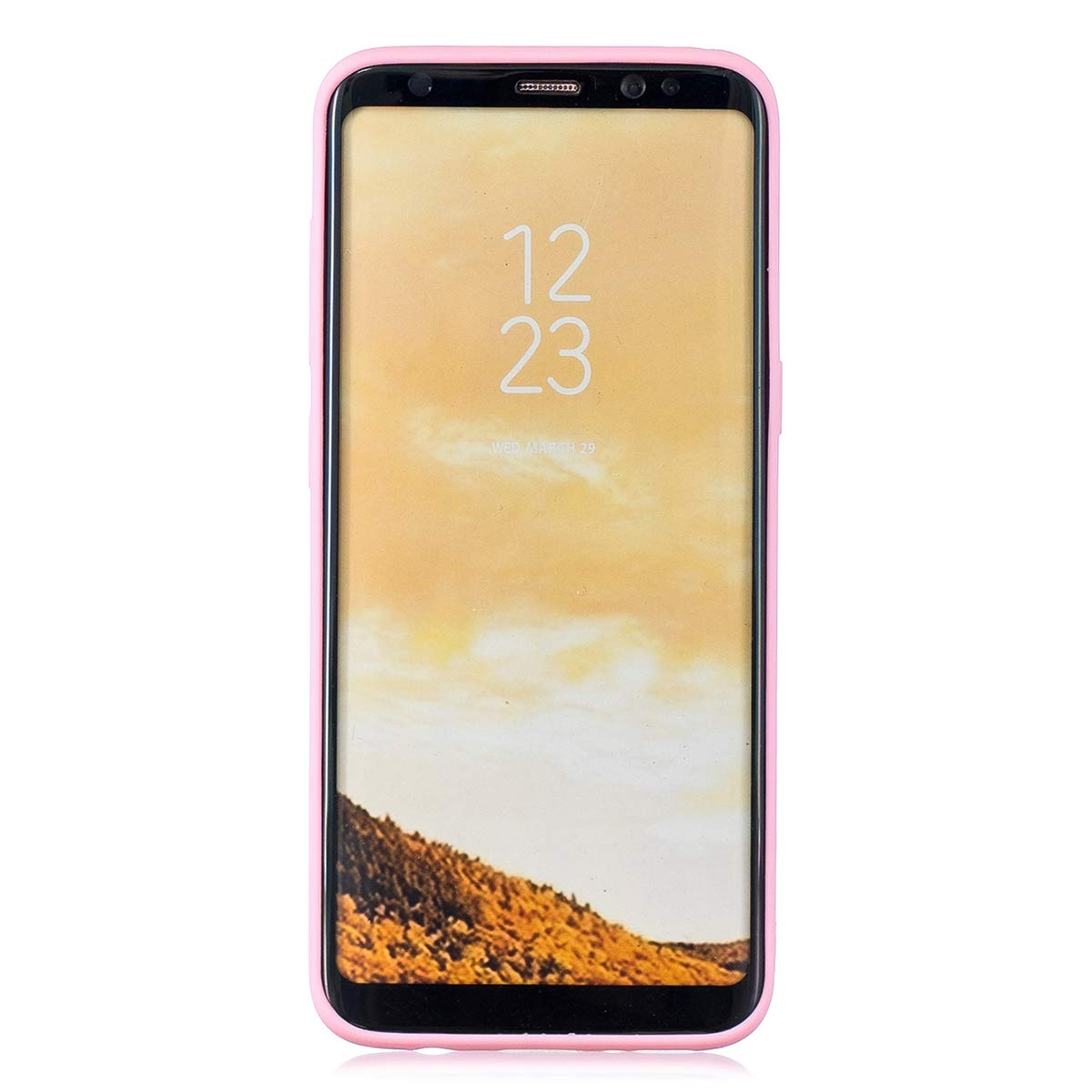 Rosa cuerda larga WOOHOO compatible con Funda Samsung S8 Silicona Cerdito
