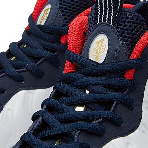 Nike Para Hombre Air Foamposite One Prm Olympic Obsidian / White Synthetic