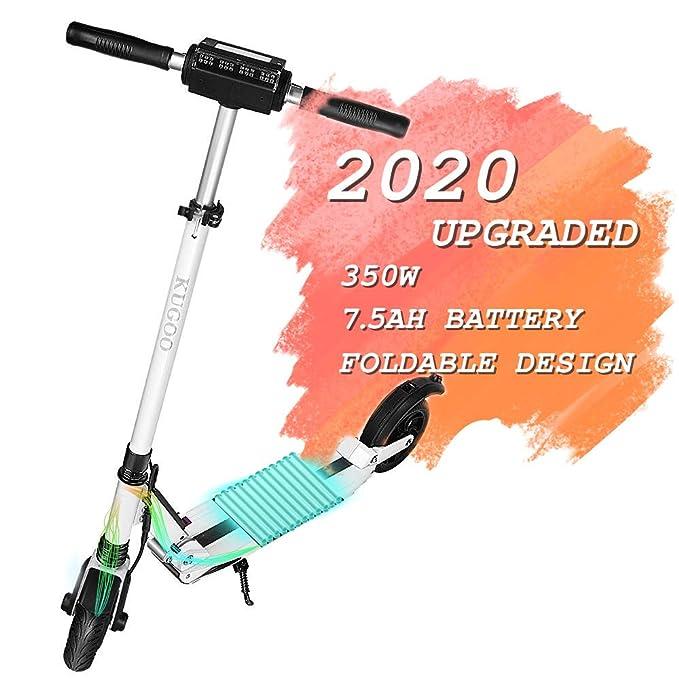 KUGOO S1 Patinete Eléctrico Scooter E-Scooter de 350 vatios y 30 km con 35 km/h Velocidad máxima e-Scooter Plegable para Adolescentes Y Adultos con Pantalla LCD compiten con xiaomi M365