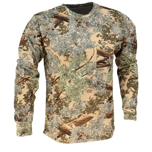 King's Camo Cotton Long Sleeve Hunting Tee, Desert Shadow, X-Large ()
