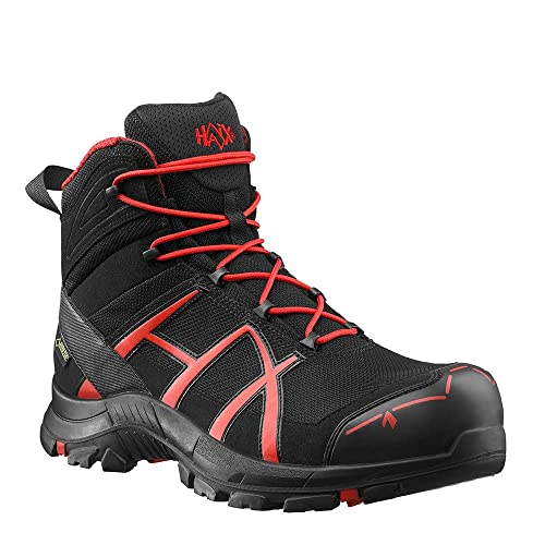 b026b6d8747 Haix Men's Safety Shoes Black Eagle Safety 40 Mid Black/red: Amazon ...