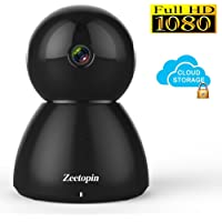 1080P WiFi Security Camera, Indoor Dome Surveillance Cams Pan/Tilt/Zoom Wireless Ip Camera, Remote Home Monitoring Systems, Day/Night Webcams Cloud Storage for Pet, Baby Video Monitor