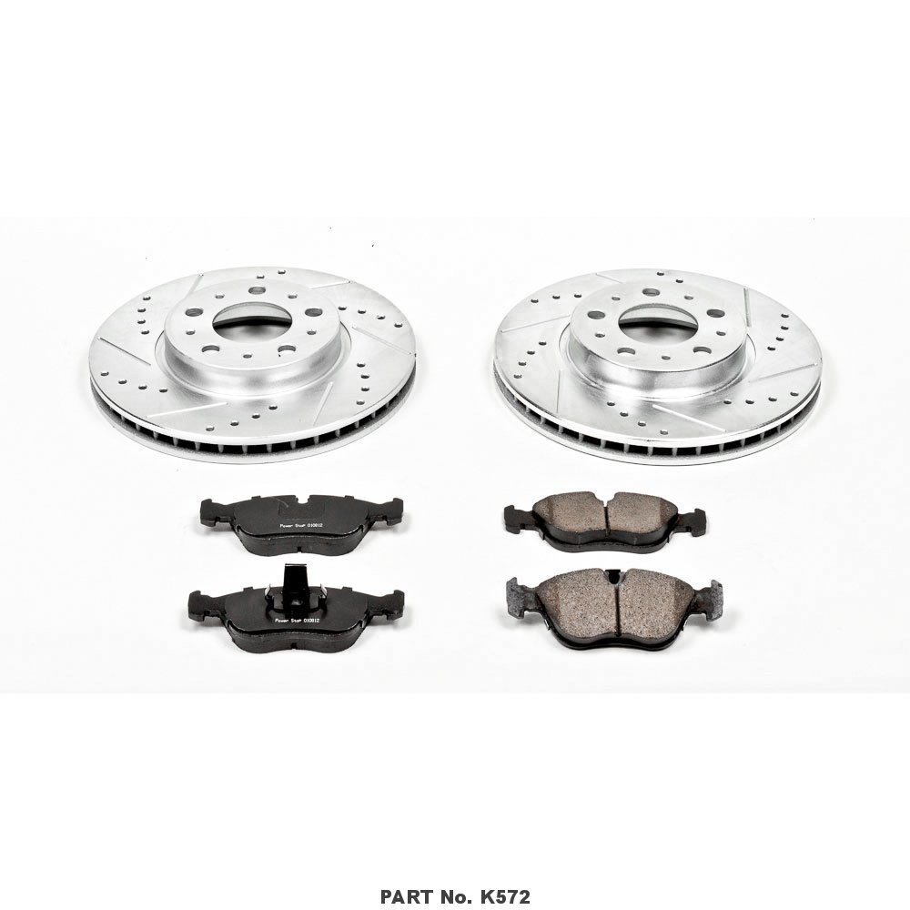Power Stop K572 Front Z23 Evolution Brake Kit with Drilled//Slotted Rotors and Ceramic Brake Pads
