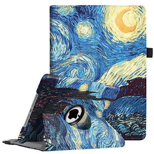Fintie iPad 9.7 inch 2018 2017 / iPad Air Case - 360 Degree Rotating Stand Protective Cover with Auto Sleep Wake for Apple iPad 9.7 (6th Gen, 5th Gen) / iPad Air 2013 Model, Starry Night