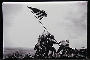 Iwo Jima Refrigerator Magnet. WWII History