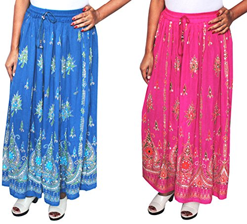 MapleClothing - Jupe - Femme taille unique Blue/Pink- 2 Pack