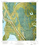 Louisiana Maps - 1973 Jackass Bay, LA USGS Historical Topographic Map - Cartography Wall Art - 44in x 53in