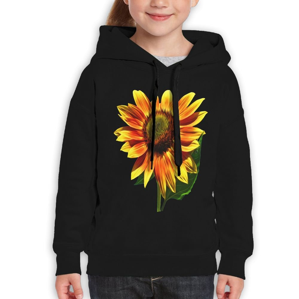 GLSEY Raises Sunflower Pattern Youth Soft Casual Long-Sleeved Hoodies Sweatshirts