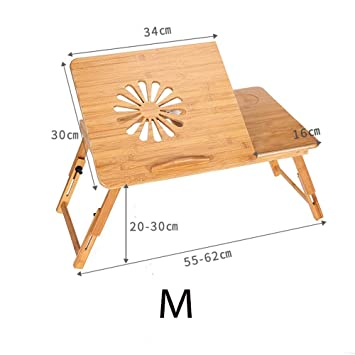 Disipación de calor de madera Multifunción Rotación automática Ordenador portátil Cama Ordenador portátil Ordenador Portátil Plegable