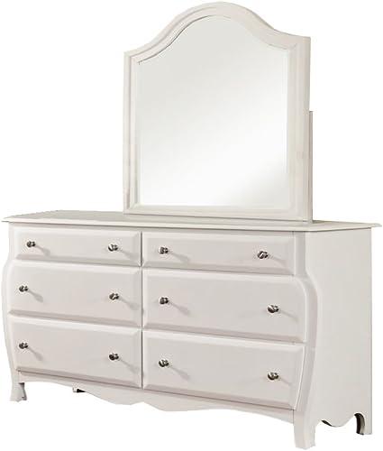 Furniture of America Audra Dresser and mirror set, White
