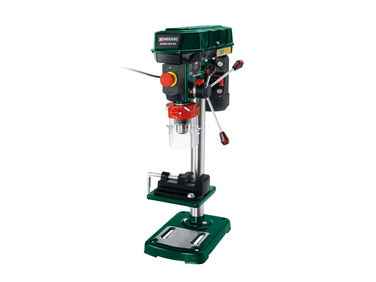 Parkside Bench Pillar Drill Ptbm 500 D4 With Angle Adjustment On Both Sides And A Graduated Scale 9 Speed Gearbox Speed 500 2500rpm Adjustable