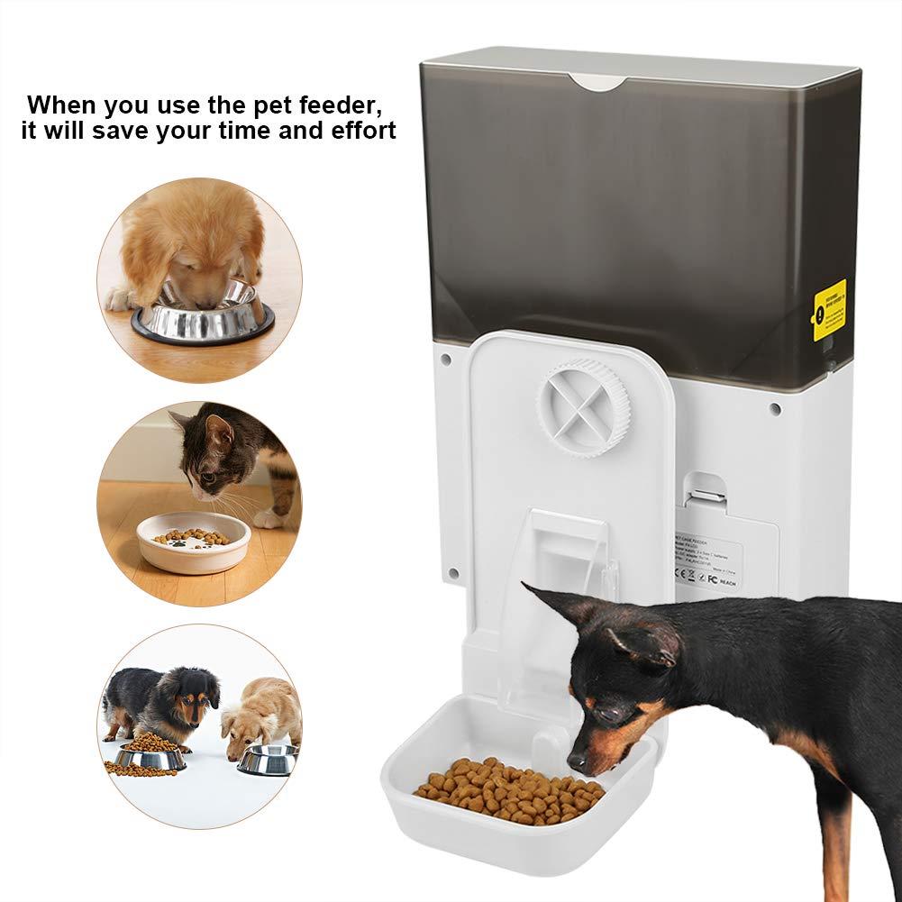 Mascotas Dispensador Comedero Autom/ático de Mascotas Alimentador de Mascotas Saludable para Perros y Gatos lahomie Comedero Inteligente Gatos