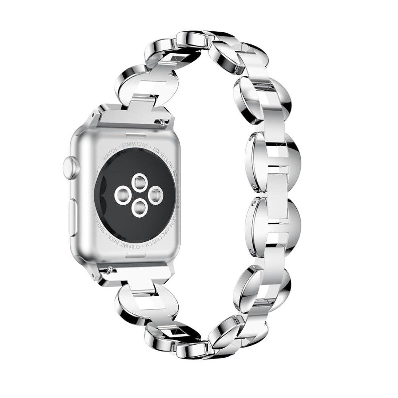 fullfun Apple Watch 3シリーズバンド、高級合金チェーンブレスレット時計バンドストラップwithクリスタル、42 mm and 38 mm 38mm D  D 38mm B075RZJJ2H