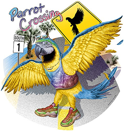 Parrot Crossing Save The Rainforest Novelty Sign   Indoor/Outdoor   Funny Home Décor for Garages, Living Rooms, Bedroom, Offices   SignMission Personalized Gift Wall Plaque Decoration