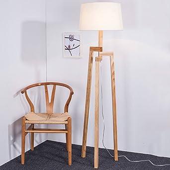 Dlewiee Amerikanische Holzstativ Stehlampe Led Kreative Wohnzimmer