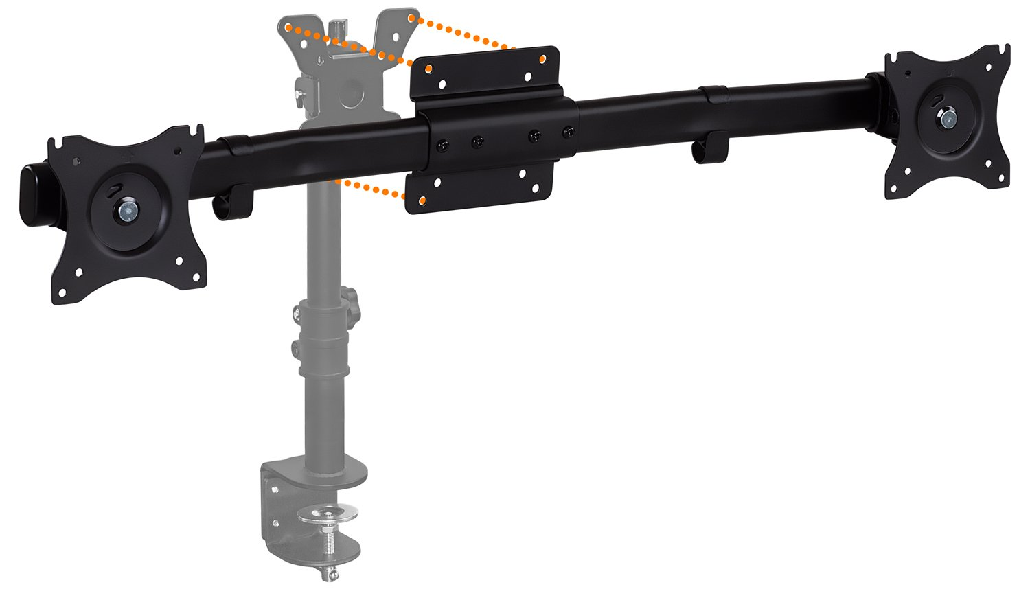 Mount-It! Dual Monitor Adapter, Convert Your Single Monitor to Dual Monitor VESA Mount, Fits Two 22, 24, 25, 27 inch Monitors