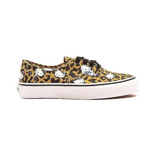 df6d6ac95131b2 Vans Girls Authentic Hello Kitty Leopard Shoes-Leopard True White ...