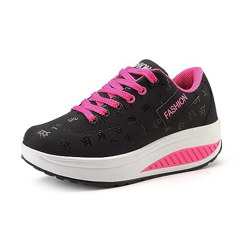 KUAIKUHEI - Zapatillas Mujer Casual  Amazon.es  Zapatos y complementos a961d42a2752