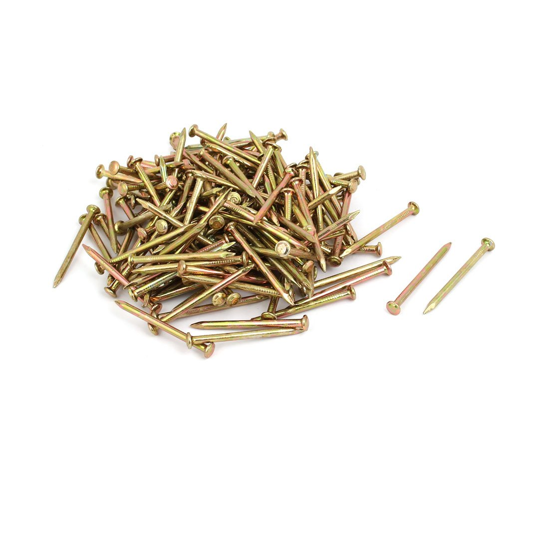 uxcell 150pcs 50mm Length Steel Point Tip Cement Nail Bronze Tone