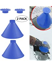 Cone-Shaped Round Windshield Ice Scraper Yoruii Magic Scraper Car Windshield Snow Scrapers, Magic Funnel Snow Removal Shovels Tool