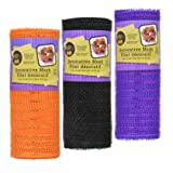 Decorative Mesh Rolls for Decorating and Crafting (3 Rolls, Orange Black Purple)