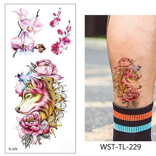 adgkitb 4pcs Tatuaje Pegatina Flores Impermeable WST-TL-229 9x19cm ...